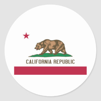 California State Flag Round Sticker