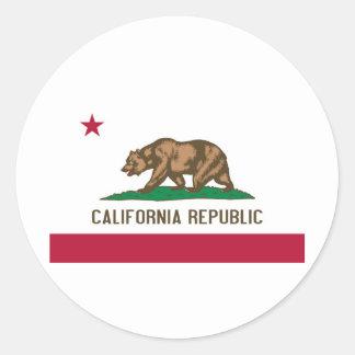 California State Flag Round Sticker