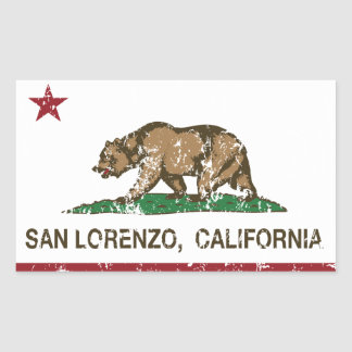 California State Flag San Lorenzo Rectangular Sticker