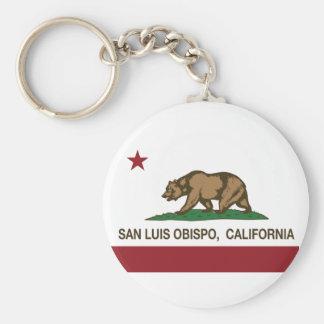 California State Flag San Luis Obispo Keychains