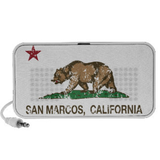 California State Flag San Marcos iPhone Speakers