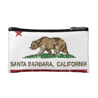 California State Flag Santa Barbara Makeup Bags