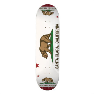 California State Flag Santa Clara 19.7 Cm Skateboard Deck