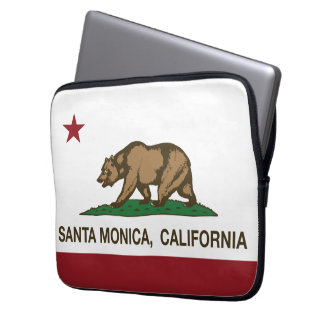 California State Flag Santa Monica Laptop Sleeve