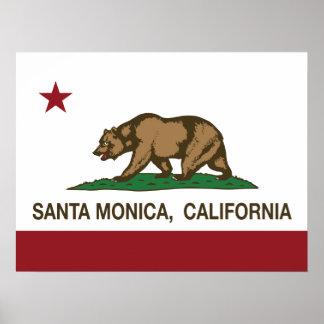 California State Flag Santa Monica Posters