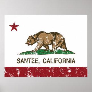 California State Flag Santee Print