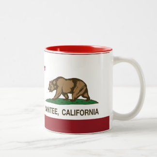 California State Flag Santee Two-Tone Mug