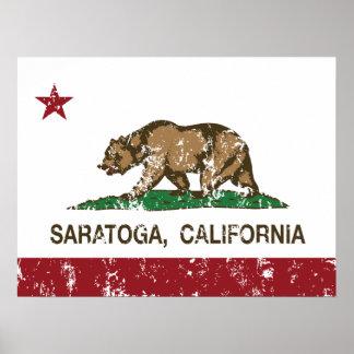 California State Flag Saratoga Poster