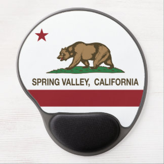 California state Flag Spring Valley Gel Mouse Pad