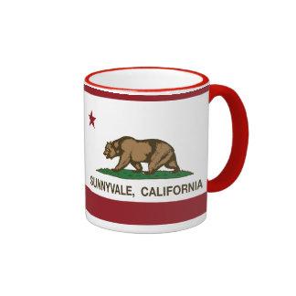 California State Flag Sunnyvale Ringer Mug