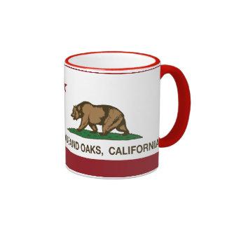 California State Flag Thousand Oaks Ringer Mug