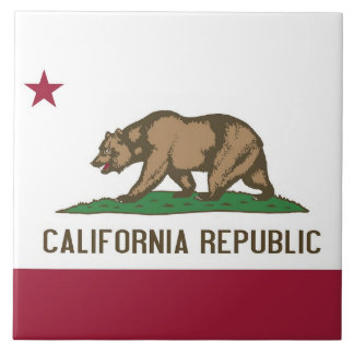 California State Flag Tile