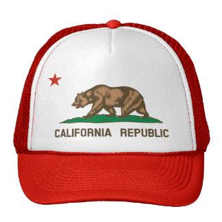 California State Flag Trucker Hat red