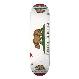 California State Flag Turlock 21.6 Cm Old School Skateboard Deck