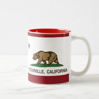 California State Flag Victorville Two-Tone Mug