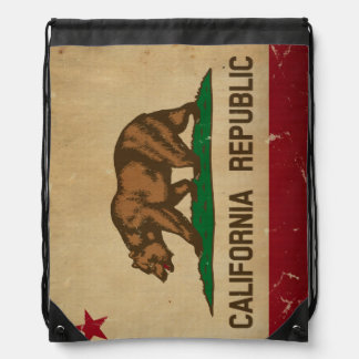 California State Flag VINTAGE Drawstring Bag