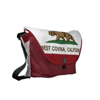 California State Flag West Covina Messenger Bag