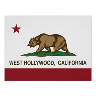 California State Flag West Hollywood Posters