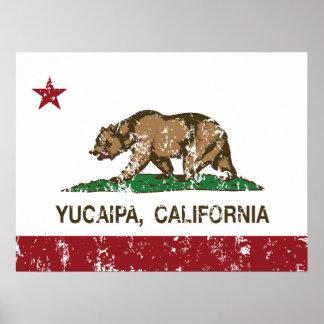 California State Flag Yucaipa Posters