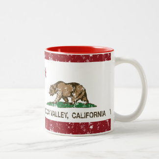 California State Flag Yucca Valley Coffee Mugs