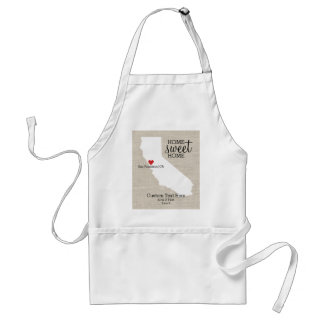 California State Love Home Sweet Home Custom Map Standard Apron