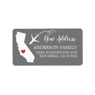 California State   New Home Return Address Label