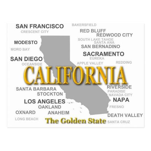 California State Pride Map Silhouette Postcards