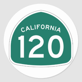 California State Route 120 Classic Round Sticker