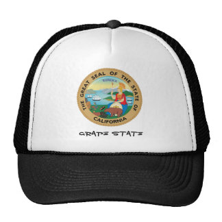 California State Seal and Motto Cap