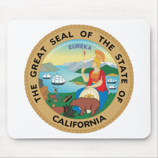 California State Seal and Motto Mouse Mat