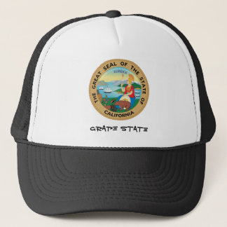 California State Seal and Motto Trucker Hat