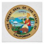 California State Seal Poster