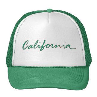 California state writing green theme hat