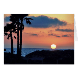 California Sunset at Oxnard Beach....Relax & Enjoy Note Card