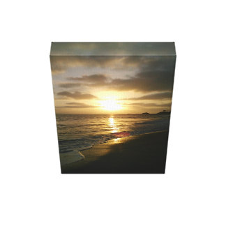 California Sunset Gallery Wrapped Canvas