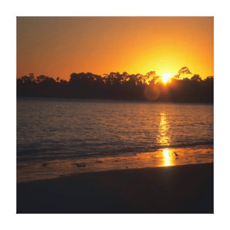 California Sunset Stretched Canvas Print