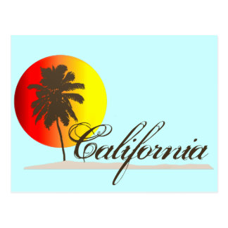 California Sunset Postcard