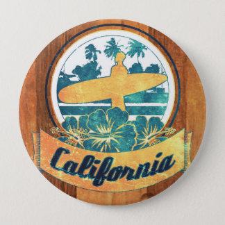 California surfboard 10 cm round badge