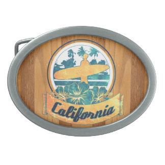 California surfboard belt buckle