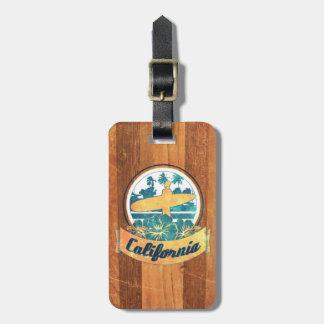 California surfboard luggage tag