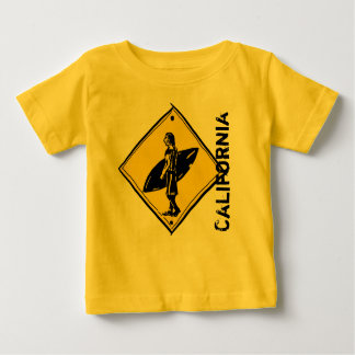 California surfer crosswalk baby tee
