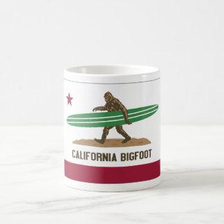 California Surfing Bigfoot Longboard Coffee Mugs