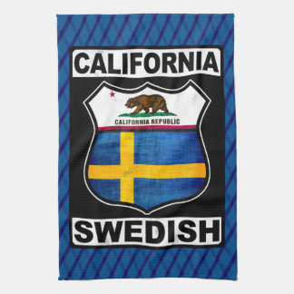 California Swedish American Tea Towel