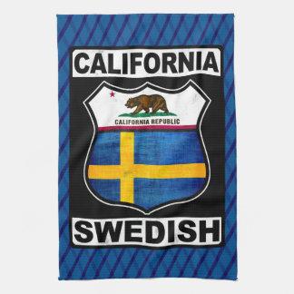California Swedish American Tea Towel