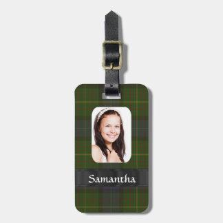 California tartan photo template bag tags