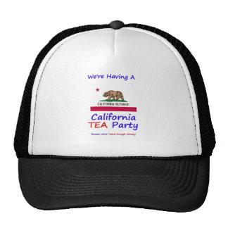 California TEA Party - We re Taxed Enough Already Mesh Hat