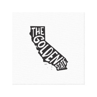 California: The Golden State Stretched Canvas Print