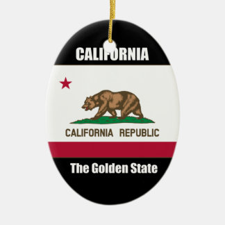 California, The Golden State Christmas Ornament