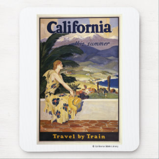 California this summer. Travel by Train  Mouse Mat