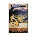 California this summer. Travel by Train  Postcard